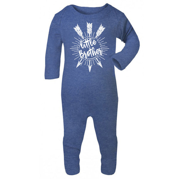 Hipster baby bodysuit, Little Brother Unique baby gift, Blue Baby BodySuit