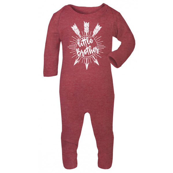Hipster baby bodysuit, Little Brother Unique baby gift, Red Baby BodySuit