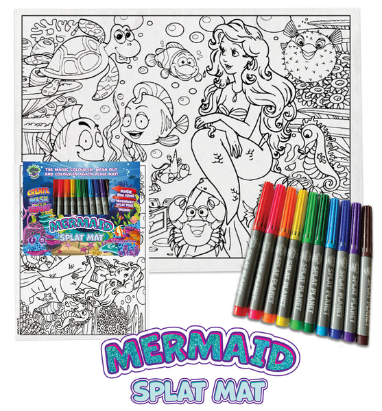 kids, children, chlidrens, colour in t-shirt, eatsleepdoodle, eat sleep doodle, grafix,  splat planet, color in t-shirt, color in t shirt, placemat, place mat, keep kids busy, unicorn placemat, Unicorn, Memaid, the little mermaid, Disney, Unicorn t shirt, rainbow, rainbow colouring, Unicorn colouring, Unicorn coloring, personalise, Magic, kids gift, unique present, magic t-shirt, magic placemat, splat mat, splat planet,