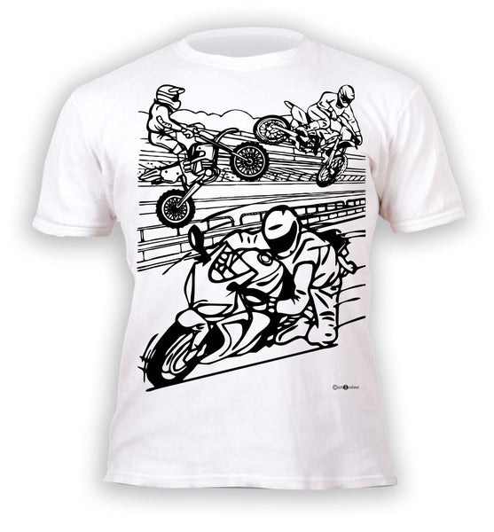kids, children, chlidrens, colour in t-shirt, art2colour, art 2 colour, splat planet, Butterflies, colouring, colour in, personalise, Magic, motorbikes, Biker