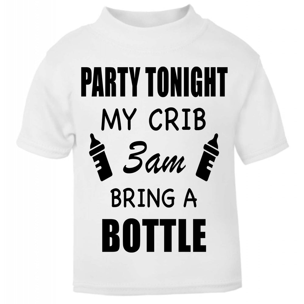Hipster Baby Cute Funny Unique Kids T-shirt, Perfect new baby gift, I like big bottles and I cannot lie, party tonight my crib, 3am bring a bottle, been inside 9 months,  I like Big butts and I cannot Lie, Dirty fingers, bang tidy, White baby Kids T-shirt