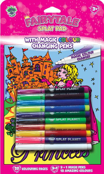 Fibracolour, fibra colour, magic colour changing pens, colour changing, magic pens, felt tips, Princess colouring book, Mermaid, fairies, Princess, Fairytale, magic colouring book, childrens gift, kids unique present, amazing colouring book,