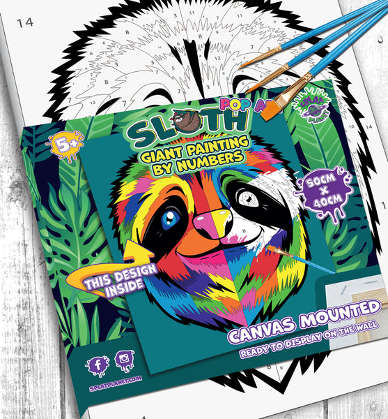 Sloth paint by number, Sloth painting, Sloth painting for kids, Sloth painting easy, Sloth painting by numbers uk, Sloth painting set, washable acrylic paints, Sloth gifts, sloth gifts for girls, paint by number on canvas, paint by numbers ready for wall mounting, paint by numbers for kids, paint by numbers for beginners, paint by numbers for children, paint by numbers with frame, sloth toy,