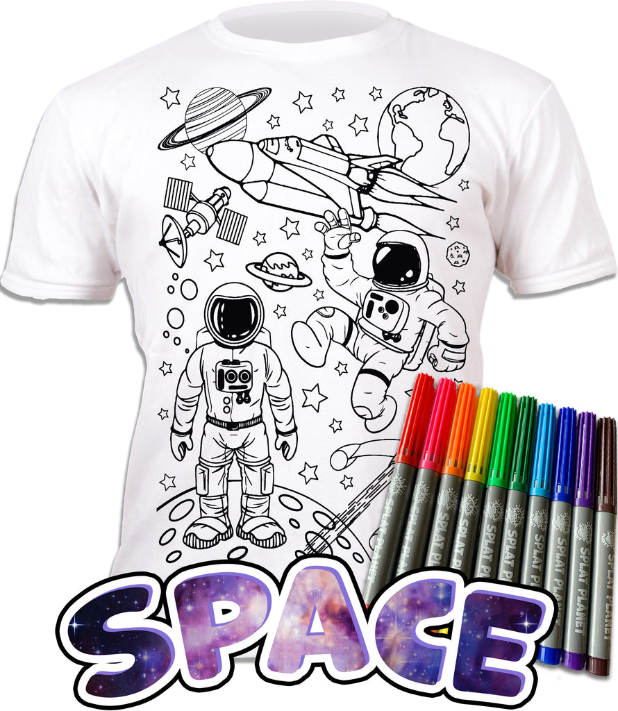 kids, children, eatsleepdoodle, eat sleep doodle, grafix, chlidrens, colour in t-shirt, art2colour, art 2 colour, splat planet, Butterflies, colouring, colour in, personalise, Magic, space, spaceship, rocket