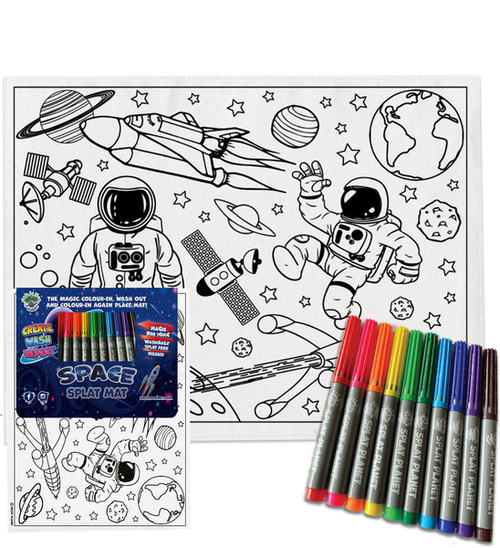 kids, children, eatsleepdoodle, eat sleep doodle, grafix, chlidrens, colour in t-shirt, placemat, place mat, unicorn, alien colouring, coloring, splat shirt, splat mat, splat planet, Butterflies, colouring, colour in, personalise, Magic, space, spaceship, rocket