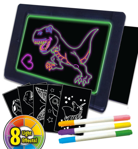 glow pad, glow board, neon board, neon bored, ADHD toy, splat planet glow board, splat board, magic pad, kml pagic pad, draw on plastic, pens draw on glass, tracing kids gift, unicorn gifts for girls. dinosaur gifts for boys, marvin magic glow board, craziart glow board, glow board pens Sensory toy, autism toy, ADHD toy