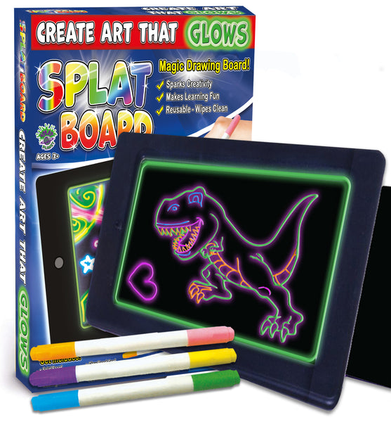 glow pad, glow board, neon board, neon bored, ADHD toy, splat planet glow board, splat board, magic pad, kml pagic pad, draw on plastic, pens draw on glass, tracing kids gift, unicorn gifts for girls. dinosaur gifts for boys, marvin magic glow board, craziart glow board, glow board pens, portable toy, travel toy, nightlight, SEN toy