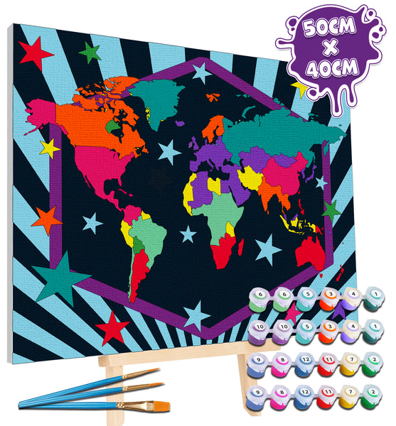 World map paint by number, world map painting, world map painting for kids, world map painting easy, world map painting by numbers uk, work map painting set, washable acrylic paints, world map gifts, paint by number on canvas, paint by numbers ready for wall mounting, paint by numbers for kids, paint by numbers for beginners, paint by numbers for children, paint by numbers with frame, world map canvas, world map wall art, world map poster for kids, framed paint by numbers