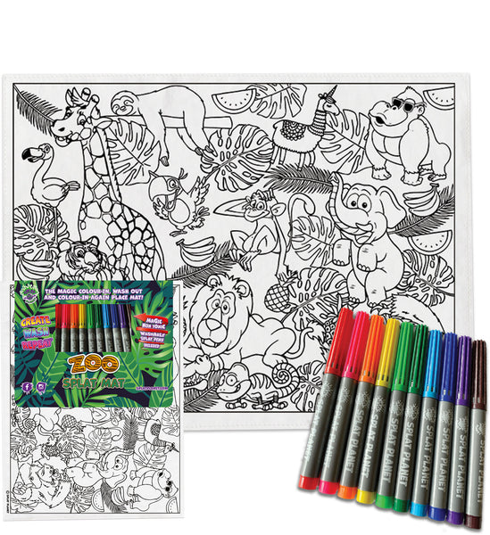 kids, children, childrens, colour in t-shirt, eatsleepdoodle, eat sleep doodle, grafix, splat planet, colouring, colour in, washable pens, magic, toddlers, Kids, magic, placemat, place mat colouring, my little pony colouring, disney, Disney colouring, mermaid colouring, comic, movie, warner movie, cartoon, monkey, elephant colouring, elephant, lion colouring, lion, tiger colouring, tiger, rhino, giraffe colouring, giraffe, baby giraffe, fish, sea, finding nemo colouring,