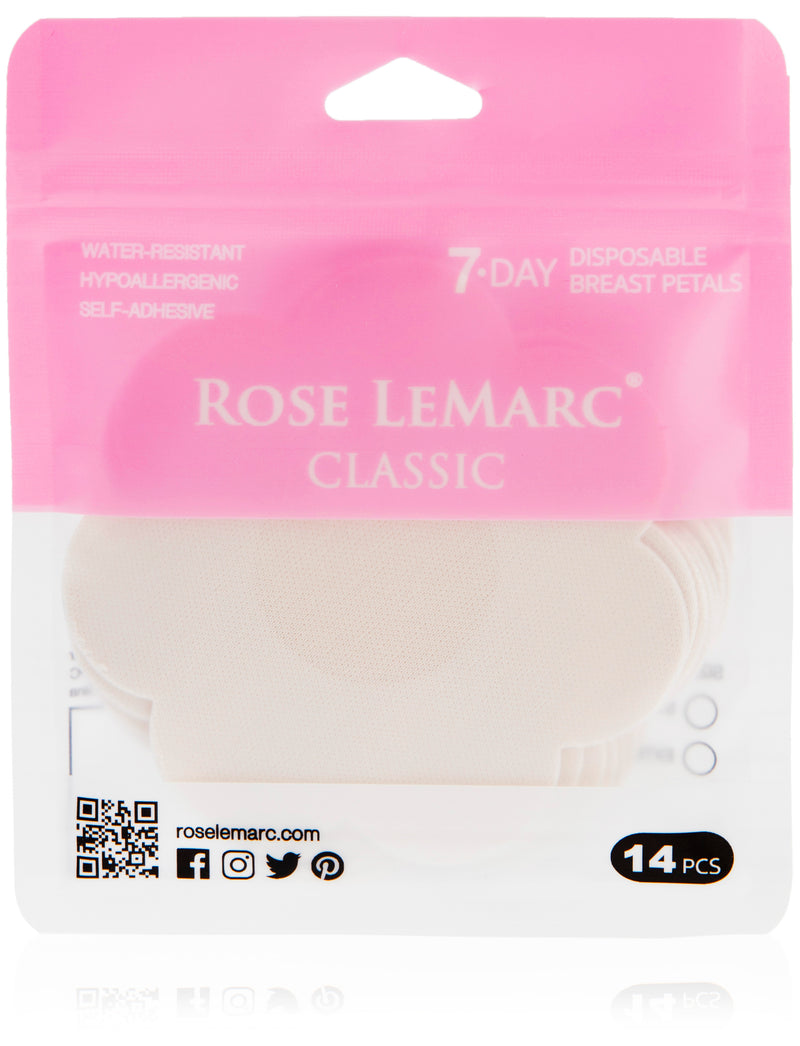 Rose LeMarc 7-Day Classic Disposable Nipple Petals, Beige