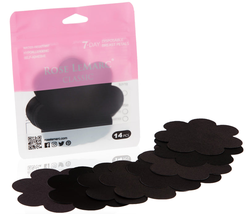 Rose LeMarc 7-Day Classic Disposable Nipple Petals, Black