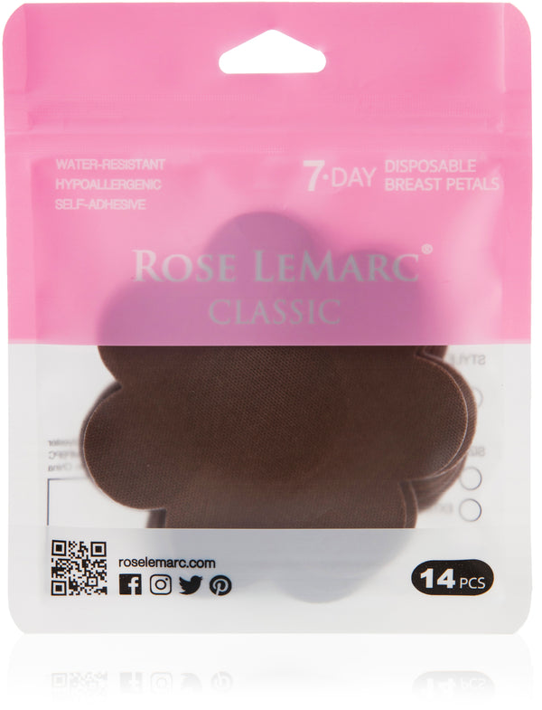 Rose LeMarc 7-Day Classic Disposable Nipple Petals, Brown