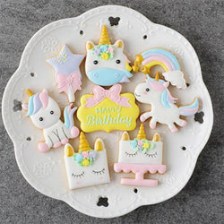 Cooking Help Hq Cake Molds 8pcs/Set Plastic Unicorn Cookie Cutter
