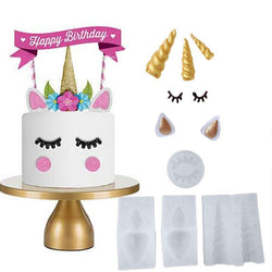 Cooking Help Hq Cake Molds Unicorn/Ear/Eye/Horn silicone cake, chocolate, fondant, Ice cream mold