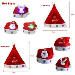 Cooking Help Hq Christmas Hats Hot Kids/Adult LED  Christmas Hat Santa Claus, Reindeer, Snowman.