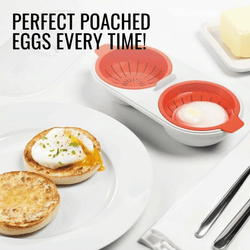 Cooking Help Hq Egg Poachers Perfect- Poach. Microwavable double egg poacher