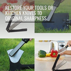 Cooking Help Hq Knife Sharpeners Double Sided Portable Pocket Diamond Grit Technology Knife Or Tool Sharpener.