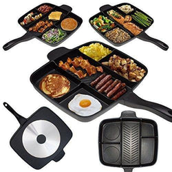 "Cooking Help Hq Pans Black 15"" Non-Stick 5 in 1 Divided Skillet. We pay S&H"