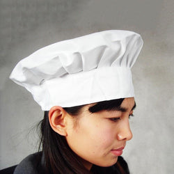 Cooking Help Hq Skullies & Beanies New Adult Unisex Elastic White Chef Hat, Baker, Kitchen Cooking Hat. Free Shipping!