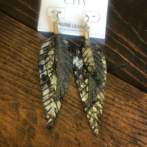 Lilah Layered Feather Earrings