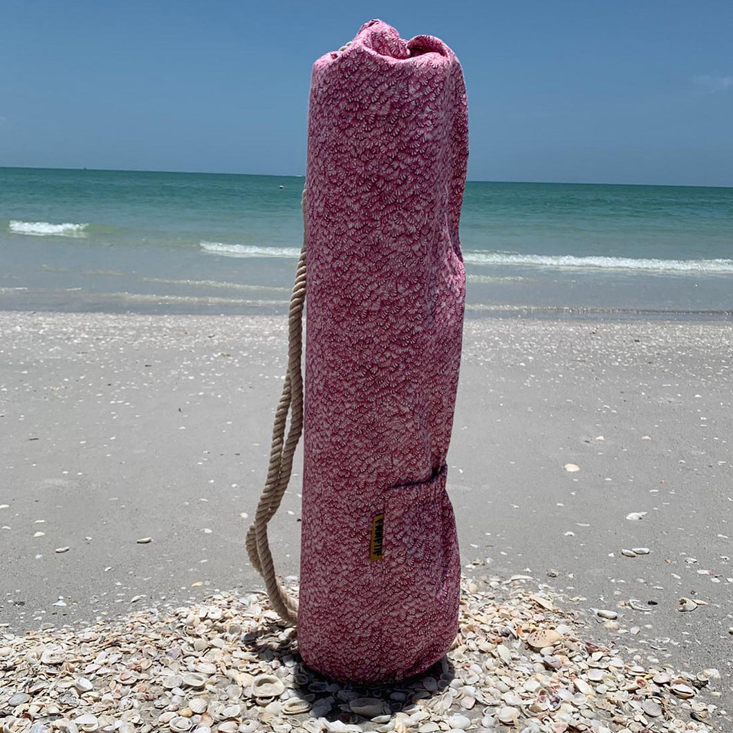 Pink Shells Yoga Mat Bag