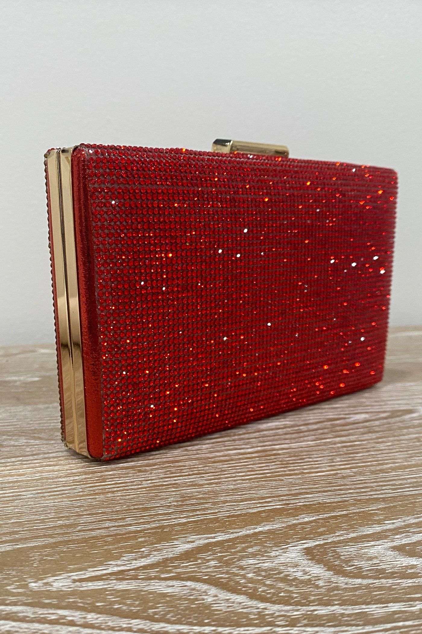 SHINE BABY CLUTCH - RED Lotus Couture