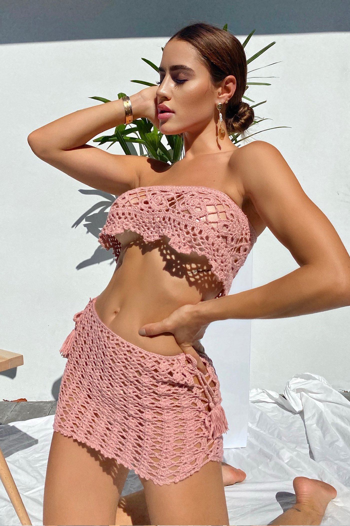 SOPHIA COVERUP SET-BLUSH Lotus Couture Miami