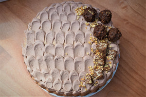 Decadent Rocher and Hazelnuts cake