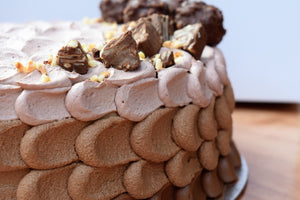 Decadent Rocher and Hazelnuts cake - vegan - Nora and Nama