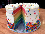 Rainbow vanilla cake - vegan - Nora and Nama