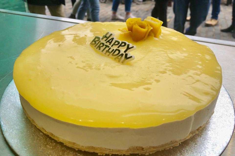 Birthday Creamy Lemon Cheesecake