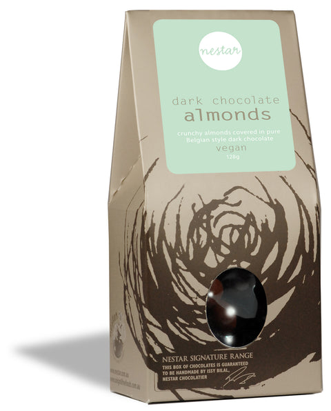 Almonds in dark chocolate 128g - Nestar Chocolates