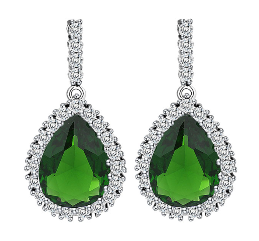 AAA Cubic Zirconia Classic Pear Drop Crystal Earrings