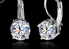 Elegant French Clip Cubic Zirconia Earrings