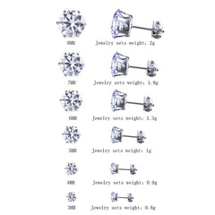 6 Pair of Cubic Zirconia Earrings