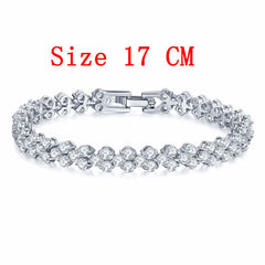 Cubic Zirconia Bracelet Channel Setting