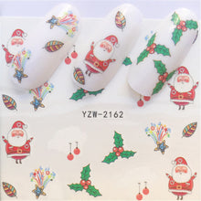 1 Piece Christmas Nail Art Water Decals Snowflake & Snowman Transfer Stickers
