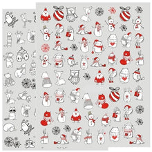 Father Christmas & Snowman 3D Nail Art sticker Decals