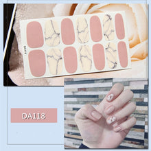 White & Black Gradient Marble Effect Nail Art Sticker