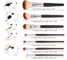 High Quality 15 Piece Professional Makeup Brushes Set Makeup Tools Kit
