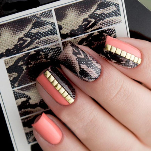 1 Sheet Snake Skin Water Decal Nail Art Nail Sticker