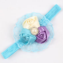 Roses With Lace & Imitation Pearl Headband Hair Accessory