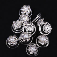 12 Piece Hairpin Bridal Imitation Crystal & Pearl Rhinestone Flower Swirl Twists Hair Accessories