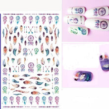 1 Sheet Dreamcatcher, Feather & Floral Nail Art 3D Nail Stickers
