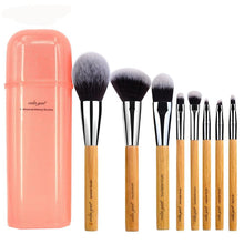Deluxe Synthetic 8 Piece Makeup Brush Travel Set Tool Kit With Case