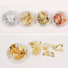 12 Boxes Set Of Multicolor Shiny Nail Sparkles Nail Art Glitter Stickers Decoration