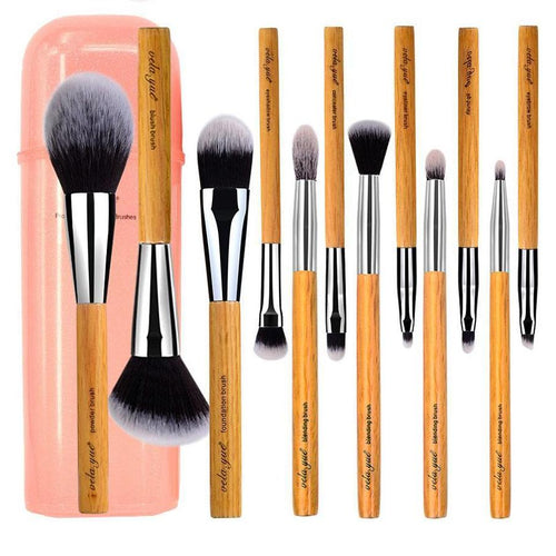 12 Piece Makeup Brushes Set for Face, Cheek, Eyes & Lips Beauty Tool Kit with Case