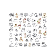 1 Sheet Cute Cat Water Transfer Nail Art Stickers Decals
