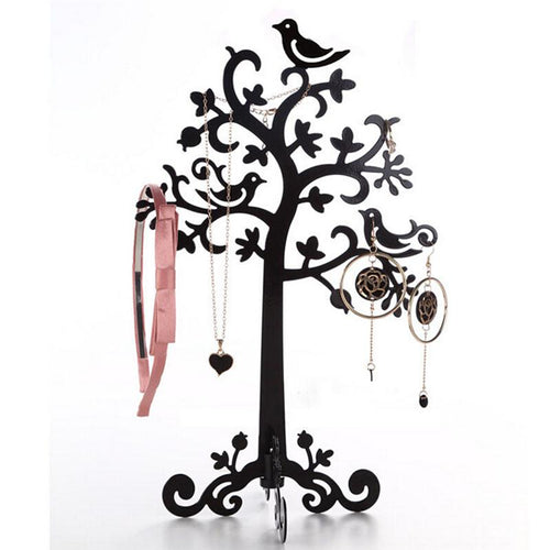 Metal Tree Shaped Jewellery Organiser For Necklace & Bracelet Storage Display Rack