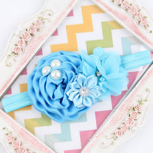Flower Headband Hair Accessory With Imitation Pearl & Diamond Detail